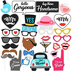 Discount Retail Photo Booth Party Props, Multi Color (29 Pieces)