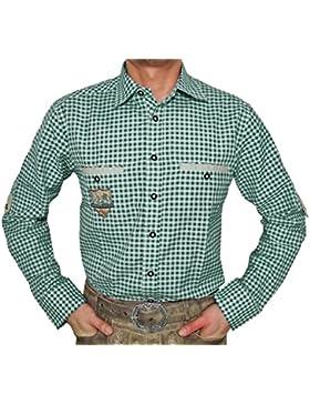 Karo Trachtenhemd Wilmar Für Herren - Schönes Kariertes Marken Hemd vom Deutschen Hersteller
