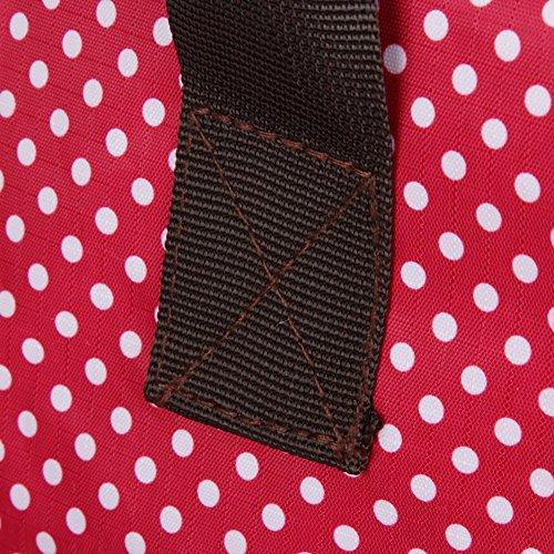 Dazone babytasche wickeltasche Rucksack Muttertasche Pflegetasche Handtasche Mumie Tasche Handgelenktstasche (kaffee mit weissen Punkten) rot mit weissen Punkten