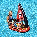 LOY Aufblasbarer Pirat Schwimmende Kinder Pool Sitz Kinder Schwimmendes Boot Sicheres Schwimmbad...