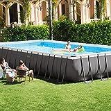 Kit piscine Intex ULTRA SILVER 7.32 x 3.66 x 1.32m...