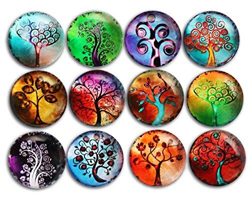 12st Baum Kühlschrankmagnete, Kristallglas Kühlschrank Aufkleber, Cosylove Baum des Lebens Magnete für Büro, Schränke, Whiteboards, Fotos, Kalender, dekorative Kühlschrank, Dekoration