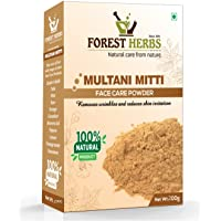 Forest Herbs 100% Natural Multani Mitti Powder 200Gms (Fullers Earth/Calcium Bentonite Clay) For Face Pack And Hair Pack…