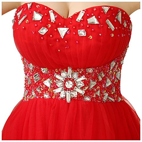 Drasawee - Robe - Bandeau - Femme Rouge - Rot - Rot