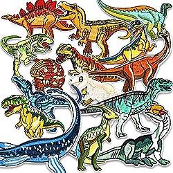 Muscccm Toppe termoadesive, 15 PCS Dinosauro Toppe per Vestiti Toppa Ricamata Fai da Te Patch Toppe da Cucire Applicazioni per Giubbotti, Jeans, Zaini, Maglietta