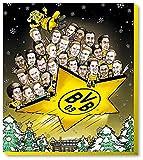 BVB 09 - Adventskalender Comic XXL 2018 - Borussia Dortmund - Schoko - Kalender - Liga - Fußball - Fanartikel - (EUR 9,49/100