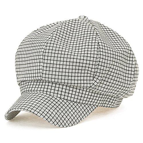 ttenmuster Muster Schieber Cabbie (Chauffeurhut) Cap Baumwolle Ivy flach Golfermütze Hut , Grey (Paperboy Kostüm)