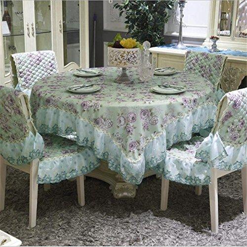 BLUELSS Löwenzahn Bettwäsche Tischdecke Landhausstil Blume Drucken multifunktionale Rechteck Tischdecke Tischdecke mit Spitzenkante Home, 2042,1 pcs 110 x 160 cm