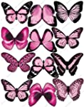 12 x Décorations Papillons PRÉ-DÉCOUP...