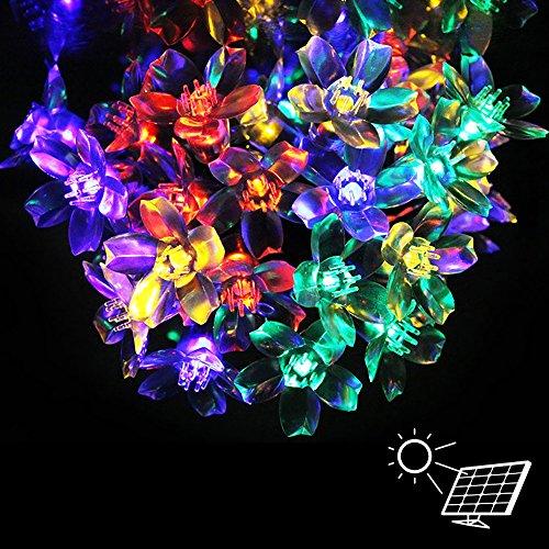 Elinkume solar luci di natale a led luci di natale garden party stringa luci esterne 6,8 metri 50 peach blossom figura led