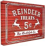 Stupell Industries Rentier behandelt Vintage Schild gedehnt Art Wand, Stolz Made in USA, Leinwand, Mehrfarbig, 40,64x 3,81x 50,8cm