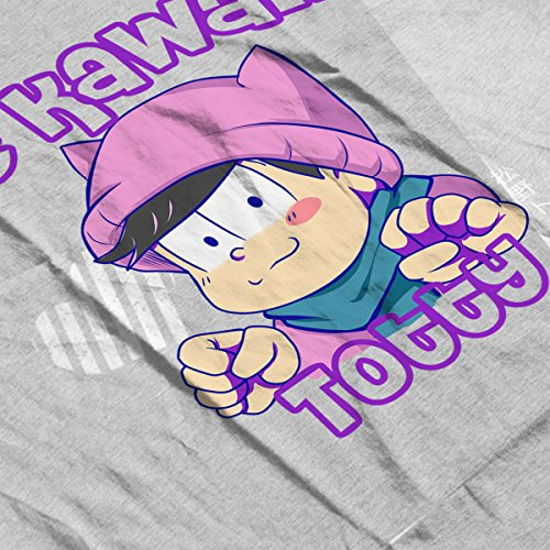 Be Kawaii Totty Todomatsu Osomatsu San Women's Sweatshirt Heather Grey