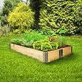 TecTake Hochbeet Rahmen faltbar 120 x 80 x 19 cm - diverse Mengen - von TecTake bei Du und dein Garten