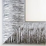 Bilderrahmen Silber - DIN A4 (21,0 x 29,7 cm) - Modern, Landhaus, Barock - Alle Größen - handgefertigt - Galerie-Qualität - LR - Rostock 7,2