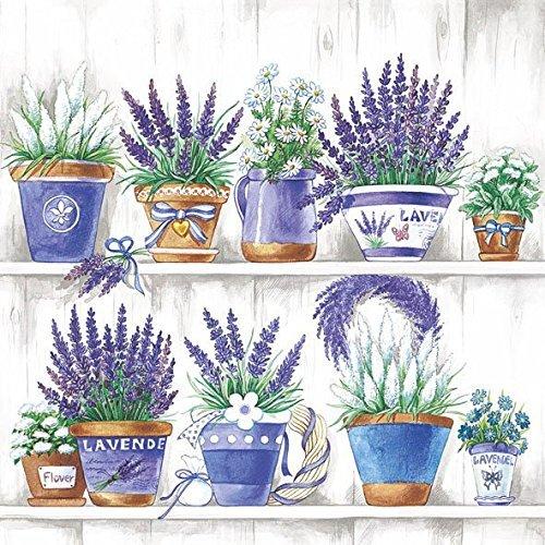 Ambiente Serviettes Lunch 33Ã'x 33Ã'cm Lavender Party Range by Ambiente - Luxury Paper Products