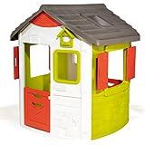 Smoby Neo Jura Lodge – lekhus för barn inomhus och utomhus, med fönster, dörrar, fågelhus, utbyggbart med tillbehör, för pojk