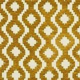 McAlister Textiles - Aztec Kollektion | Stoff im geometrischen Arizona-Muster in Gelb 140cm Breite | per halber Meter | Textil Material für Ethno-Look