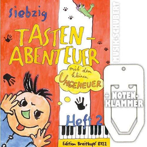 70 Tastenabenteuer mit dem kleinen Ungeheuer Heft 2 inkl. praktischer Notenklammer - weitere leichte Klavierstücke mit Fantasie für Kinder (deutsch/englisch) (broschiert) von Karin Daxböck, Elisabeth Haas u.a. (Noten/Sheetmusic)