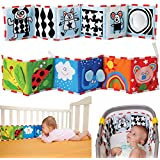 Leoie Bed Set Baby Bedding Set Crib Bumpers For Baby Crib Bumpers Guard Baby Multifunction Crib Bumper Baby Early Learning Cloth Book Puzzle Educational Toy Ladybird Style
