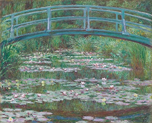 VINMEA The Japanese Bridge (The Water-Lily Pond) - Claude Monet. Wall Decal - Peel & Stick, Removable (25