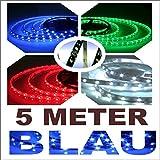TL5000B - 5 Meter 12V flexible SMD LED Tira Xenon AZUL luces de circulación diurna, lámpara, Luces de día navegación Light Reading, Luz del tronco,  luces de salida, Iluminación de la puerta interior para los pies, Casa Oficina Decoración