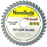 NOVOTOOLS TCT Kreissägeblatt, 125 x 22,2 mm, 40 Zähne, für Winkelschleifer, für jegliches Holzschneiden