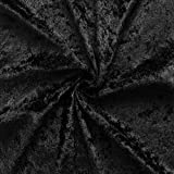 Black Crushed Velvet Fabric by Stoffkontor