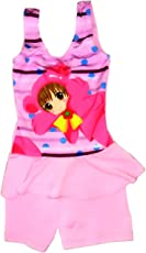 Kids Girls Swim Suit Cute Baby Doll Cartoon (Swimming Costume Swimwear)