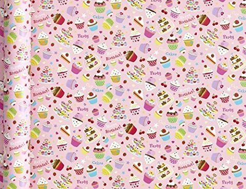 Pink Cupcake Wrapping Paper