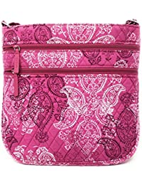 26daf045b2b4 Vera Bradley Triple Zip Hipster Cross-body Bag with Updated Solid Interiors  (Stamped Paisley