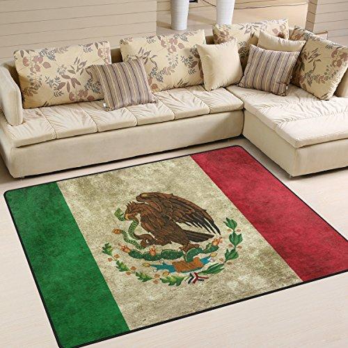 Mexikanische Schlafzimmer-möbel (naanle mexikanischen Flagge rutschfeste Teppich für Living Eßzimmer Schlafzimmer Küche, 50x 80cm (1,7'X 2,6' ft), Vintage Kinderzimmer Teppich Boden Teppich Yoga Matte, multi, 150 x 200 cm(5' x 7'))