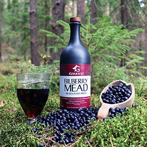 Grimfrost Bilberry Mead - Met - Honigwein mit Blaubeere (750ml 14,5% Vol. Trocken)