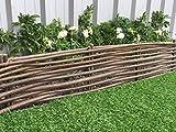 61GzLRst5fL. SL160  - BEST BUY# Marko Gardening Rigid Willow Garden Edging 1M Panels Border Lawn Hurdle Pathway Drives (2) Reviews