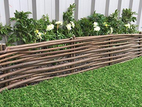 61GzLRst5fL - BEST BUY# Marko Gardening Rigid Willow Garden Edging 1M Panels Border Lawn Hurdle Pathway Drives (2) Reviews