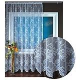 Gardine Jacquard Universalband Spitzenoptik Vorhang Blumenmuster weiß, Auswahl: 500 x 245 cm, Design: Monique