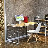 Designetsamaison Bureau en Bois métal Blanc - Tanaro...