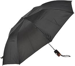 the purple tree Black 2 Fold Round Handle Umbrella