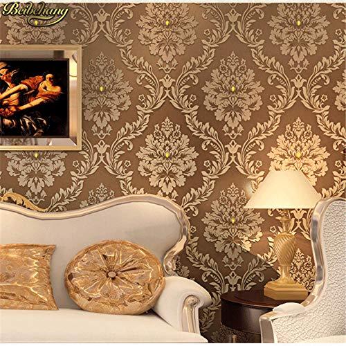 Agreey papel de parede camera da letto di lusso in rilievo con diamante moderno carta da parati damascata bianca rivestimento murale classico 3d wallpape@color_1_5.3㎡