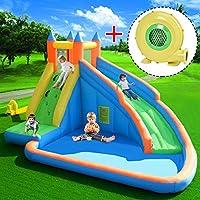 Costway Inflatable Bouncy Castle Outdoor Garden Kids Jumper House Water Slide Activity (Bouncy Castle w/Blower)