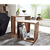 Angel Furniture Hamilton Sheesham Wood Nested Cube/Side Table, (Brown)