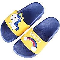 Ruiuzi Einhorn Hausschuhe für Junge Mädchen Slide Sandalen Kinder im Freien Strand Pool Sandale Weich-Einhorn Badeschuhe