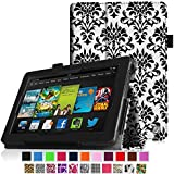"""Fintie Kindle Fire HD 7"""" (2013 Old Model) Slim Fit Folio Case with Auto Sleep / Wake Feature (will only fit Amazon Kindle Fire HD 7, Previous Generation - 3rd), Versailles"""