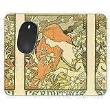 Art Deco Paris Mousepad–Neopren für optische und Laser Maus–Rechteck Rund Herzform, grün, Rectangle Mousepad