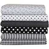 Imported Pack Of 7 DIY Squares Cotton Cloth Patchwork Quilting Floral Craft Fabric