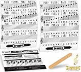 61GzmLIBEwL. SL160  - BEST BUY #1 Tempi Piano Stickers for Keys ( 49 / 61 / 76 / 88) Notes Music Practice Tools for Musicians and Pianists Reviews and price compare uk