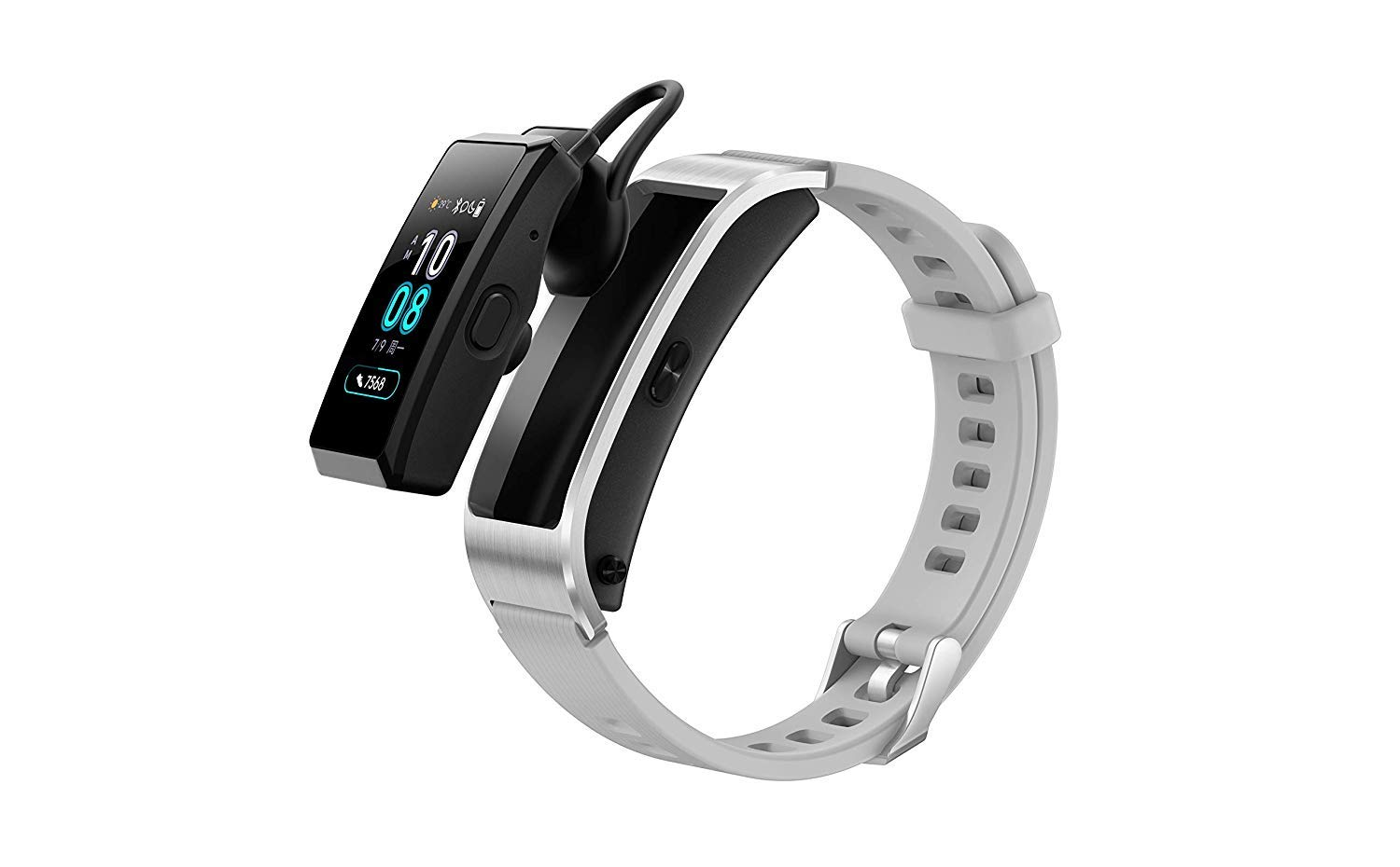 Huawei TalkBand B5 113 AMOLED 2 In 1 Fitness Wristband Activity Tracker Bluetooth Headset Smartwatch With Realtime Heart Monitor Sleeping Monitor And Connected GPS Gracier Gray