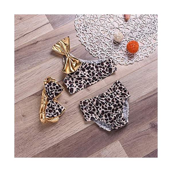 Heetey - Traje de baño para niña, diseño de Leopardo con Arco de Verano 3