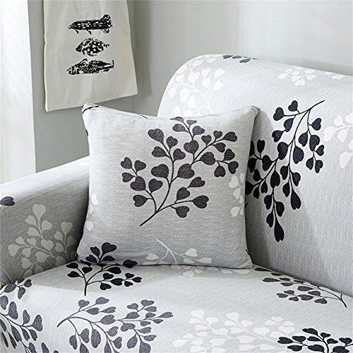 Hotniu 1-pezzi copricuscini stampato, quadrato federa per cuscino, decorativi cuscini per divano sedia e letto, 45x45cm, floreale #15