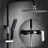 Gyps Faucet Waschtisch-Einhebelmischer Waschtischarmatur BadarmaturDas Kupfer Schwarz Matt Brauseschlauch Dusche Wasserhahn Dusche Bad Wasser Mischventil Wasserhahn Dusche Kopf- und Handbrause Dusch
