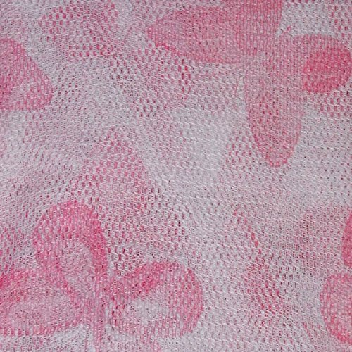 Russo tessuti telo tenda pannello zanzariera fantasia farfalle retina moschiera 150 x 250 cm-rosa